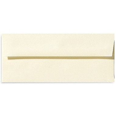 LUX Peel & Press #10 Square Flap Envelopes (4 1/8 x 9 1/2) 500/Box, Natural Linen (4860-NLI-500)