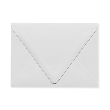 LUX A6 Contour Flap Envelopes (4 3/4 x 6 1/2) 1000/Box, White - 100% Recycled (1875-WPC-1000)