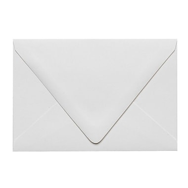 LUX A4 Contour Flap Envelopes (4 1/4 x 6 1/4) 1000/Box, White - 100% Recycled (1872-WPC-1000)