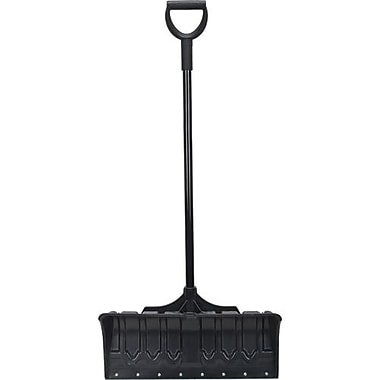 Aurora Tools Poly Snow Pusher Shovel with Steel Wear Strip, 24