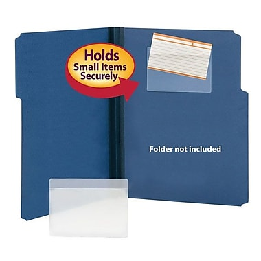 Smead® Index Card Size Self-Adhesive Poly Pockets, Clear, 100/Box