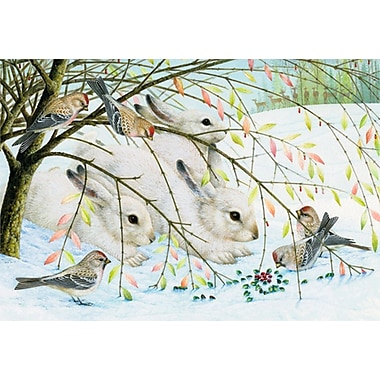 Sunrise Arctic Hares Holiday Boxed Cards Lynn Bywaters