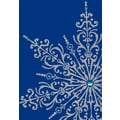Sunrise Silver Snowflake Holiday Boxed Cards