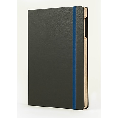 Portenzo BookCase for iPad mini, Black Morocco and Blue