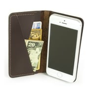 Portenzo Alano Slim for iPhone with Wallet, Dark Chocolate