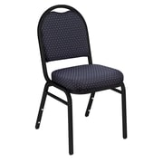 National Public Seating 9200 Series Steel Frame Fabric Padded Dome Stack Chair,  Diamond Navy 40/Pack (9264-BT-NB/40)