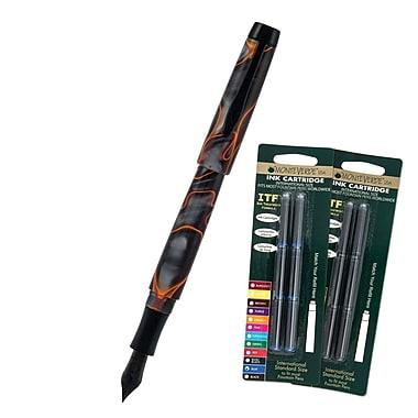 Monteverde® Intima Fountain Pen W/6 Black and 6 Blue Refills, Volcano Gray