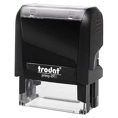 Trodat® Printy 4911 Climat Neutral Self-Inking Stamp, Arrow Symbol, Red
