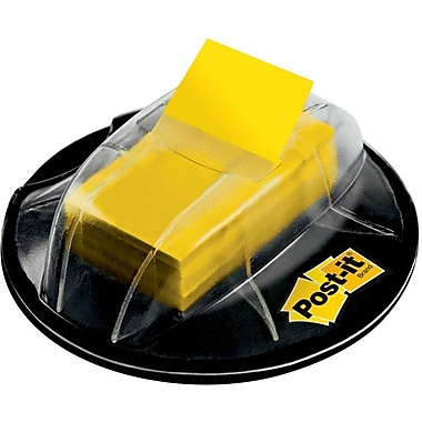 Post-it® Desk Grip Dispenser with Yellow Flags