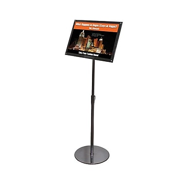 Deflecto® Telescoping Sign Holder, Black, 11