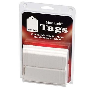 Monarch® Refill Tags For Tag Attacher Kit, White, 1,000/Pack