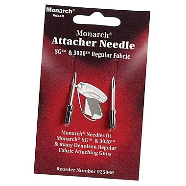 Monarch® Regular Stainless Steel Attacher Needles, 2/Pack
