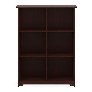 Bush® Cabot Collection 6-Cube Bookcase, Harvest Cherry