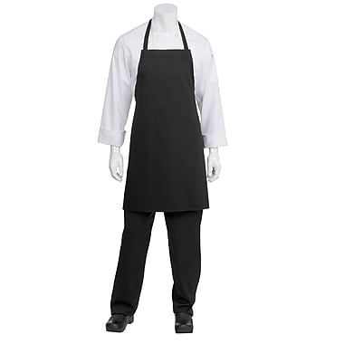 Chef Works® Bib Chef Apron Without Pouch Pockets, Black