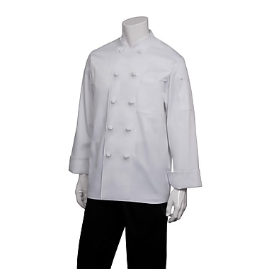Chef Works® Bordeaux Long Sleeve Basic Chef Coat, White, XL