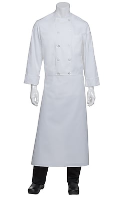 Chef Works Long Four Way Apron Without Pouch Pockets White