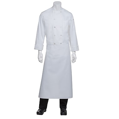 Chef Works® Long Four-Way Apron Without Pouch Pockets, White