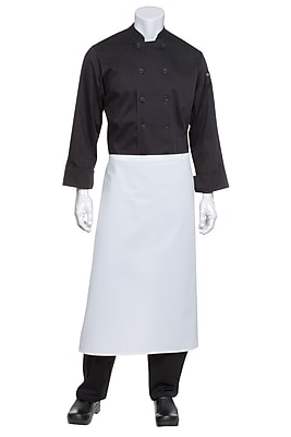 Chef Works Bar Apron Without Pouch Pockets White