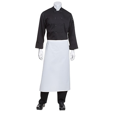 Chef Works® Bar Apron Without Pouch Pockets, White
