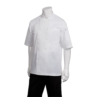 Chef Works® Montreal Short Sleeve Cool Vent Basic Chef Coat, White, XL