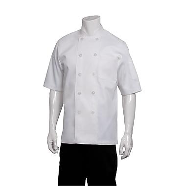 Chef Works® Volnay Short Sleeve Basic Chef Coat, White, XL
