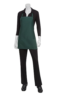 Chef Works Bib Apron With 3 Pockets Black