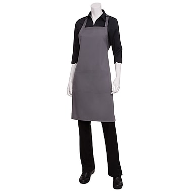 Chef Works® Butcher Apron With 2 Divided Patch Pocket, Gray
