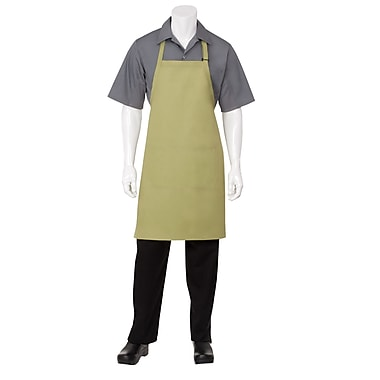 Chef Works® Butcher Apron With 2 Divided Patch Pocket, Lime