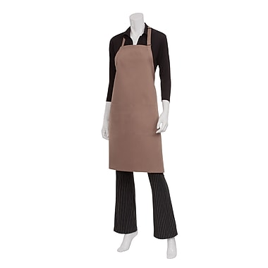 Chef Works® Butcher Apron With 2 Divided Patch Pocket, Mocha