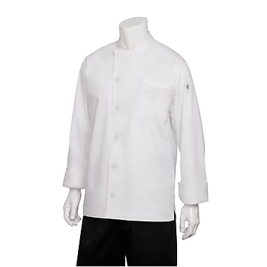 Chef Works® Lyss V-Series Long Sleeve Chef Coat, White, 2XL