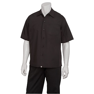 Chef Works® Tours Cool Vented Cook Shirt, Black, 3XL