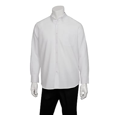 Chef Works® Men's Oxford Long Sleeve Shirt, White, XL