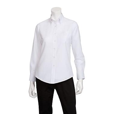 Chef Works® Ladies Oxford Long Sleeve Shirt, White, XL