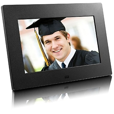 Aluratek ADPF07SF Digital Photo Frame With Auto Slideshow, 7in.