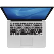 KB Covers Large Type Keyboard Cover For MacBook, Clear With Black Buttons