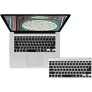KB Covers Arabic Keyboard Cover For MacBook/Air 13/Pro (2008+), Black