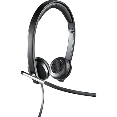 Logitech® H650e USB Mono Binaural Headset With Noise Cancelling Microphone