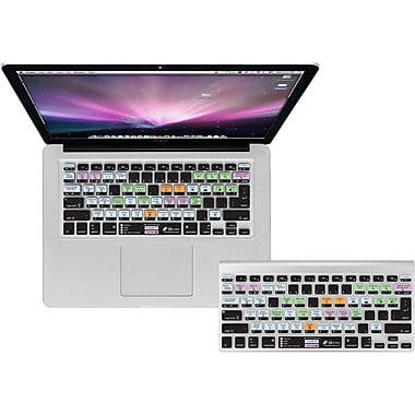 KB Covers Mac OS X Shortcuts Keyboard Cover For MacBook, Black