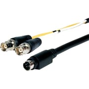 Comprehensive® Pro 3' AV/IT Series S-Video 4-Pin Plug to 2 BNC Plugs Breakout Cable