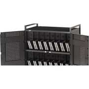 Bretford® Fully Assembled 32 Unit Netbook Computer Cart With Electrical, Raven Black