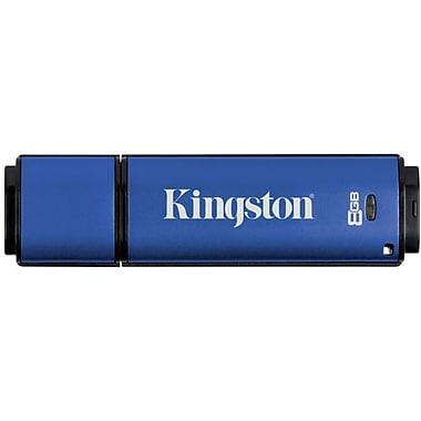 Kingston® DataTraveler® Vault Privacy 3.0 8GB USB 3.0 Flash Drive (Blue)