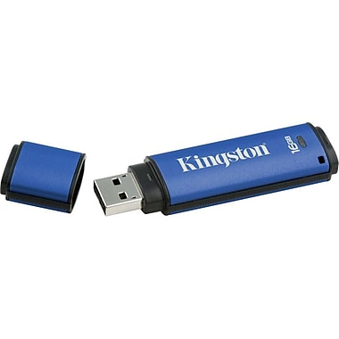Kingston® DataTraveler® Vault Privacy 3.0 16GB USB 3.0 Flash Drive (Blue)