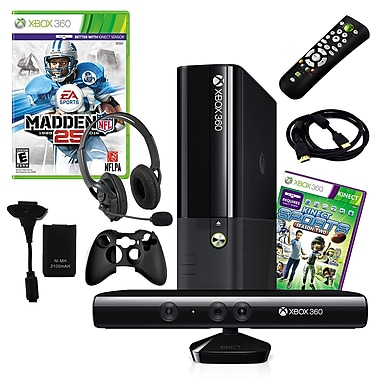 Microsoft® Xbox 360 Slim 4GB Kinect Bundle W/ Madden NFL 25 and Accessories