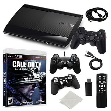 Sony Playstation 3 Slim 500GB Bundle W/ Call of Duty Ghosts and More