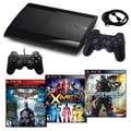 Sony® Playstation 3 Slim 500GB Bundle W/ 3 Games and Accessories, Batman, X-Men and Transformers