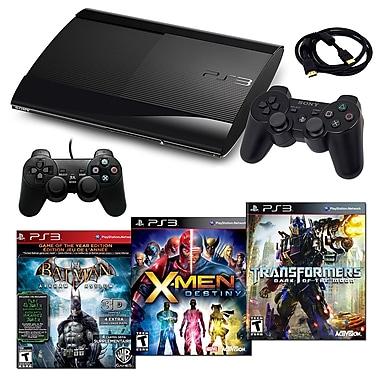 Sony Playstation 3 Slim 500GB Bundle W/ 3 Games and Accessories, Batman, X-Men and Transformers