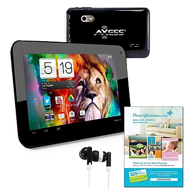 Axess TA2510-7 7in. Tablet, Android Jelly Bean, Black