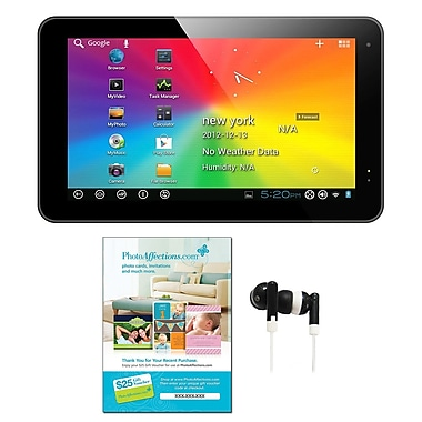 Axess® 10.1in. Android 4.1 Tablet PC Bundle, Black