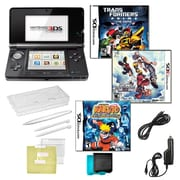 Nintendo® 3DS Kingdom Hearts & Naturo Ninja Destiny Games W/ 10 in 1 Accessory Kit, Black