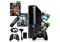 Microsoft® Xbox 360 E 250GB Bundle W/ 4 Games and Accessories